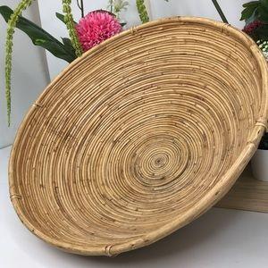Large Coiled Pedestal Basket